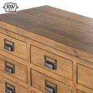 Industrial draftsman 20 drawer merchant chest