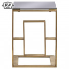 Vintage edwin sofa table brushed brass