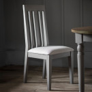 Rustic grey dining chair