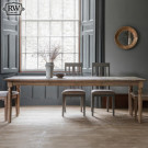 Rustic oak 5ft extending dining table