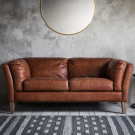 Vintage 2 seater sofa brown leather