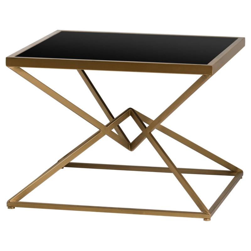 Orient antique bronze side table