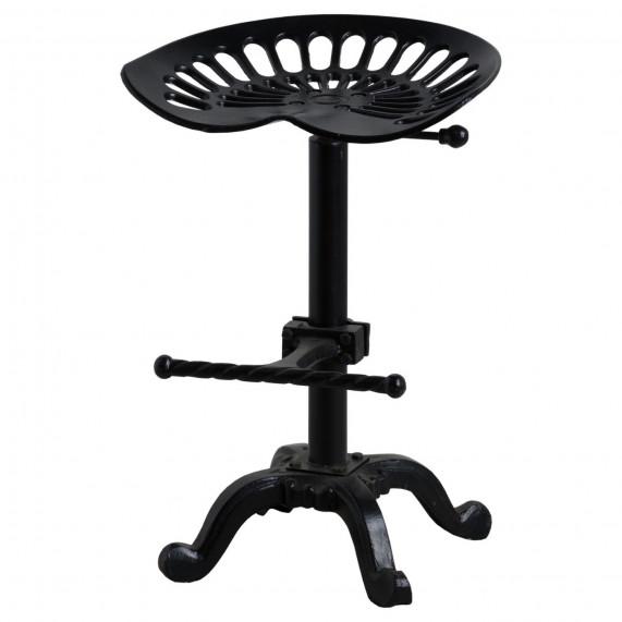 Industrial adjustable tractor seat stool black