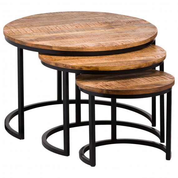 Industrial set of 3 tables