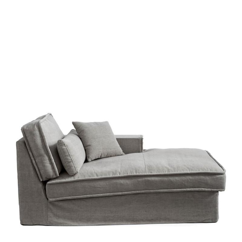 Metropolis chaise l right cot grey