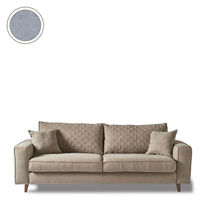 Kendall sofa 3 5s cotton ice blue