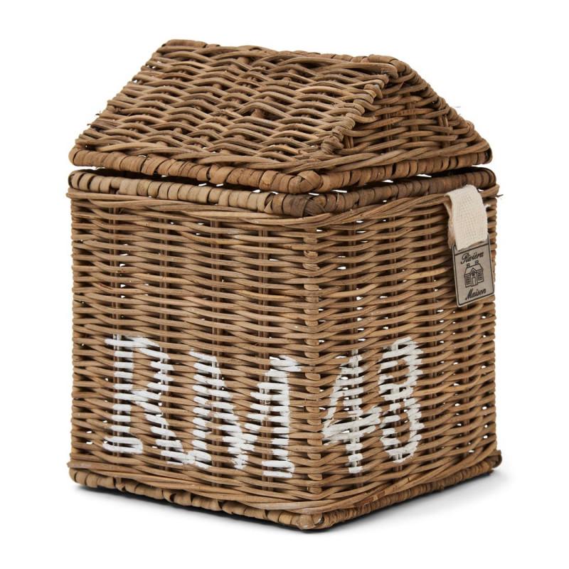 Rustic rattan rm 48 tissue box