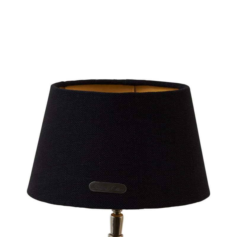 Chique lampshade bl gld 15x20