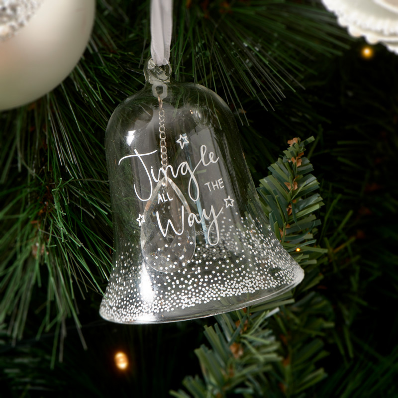 Jingle all the way bell ornament