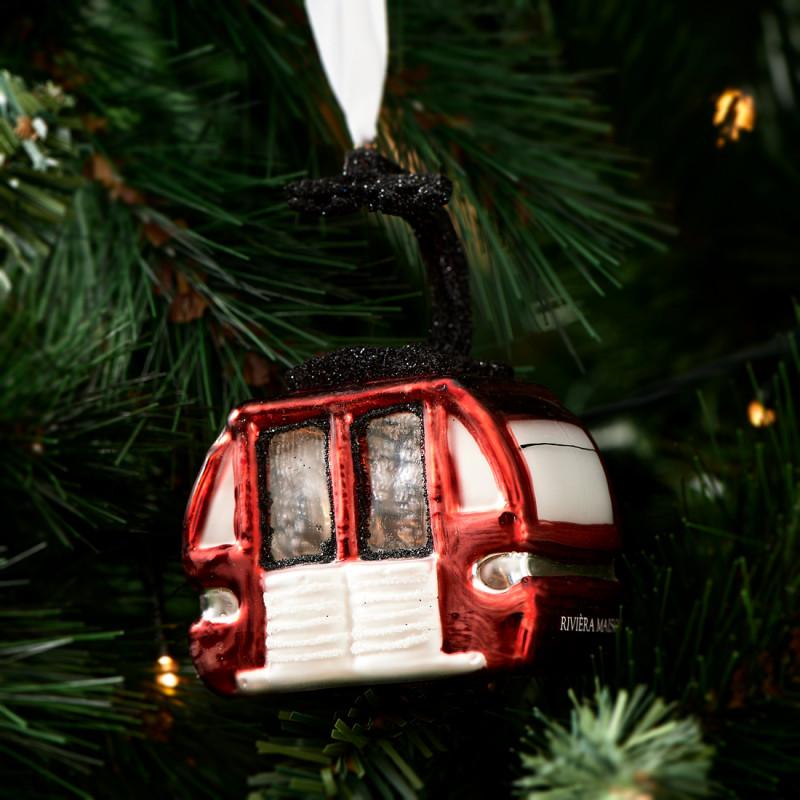 Christmas skilift ornament