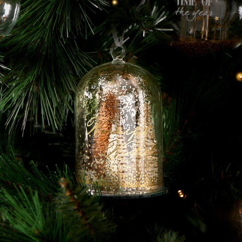 Pretty christmas trees orn copper