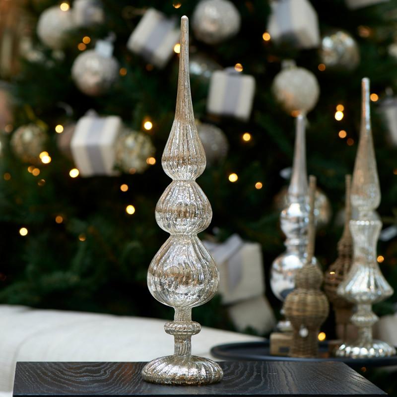 Celebrate christmas peak on stand