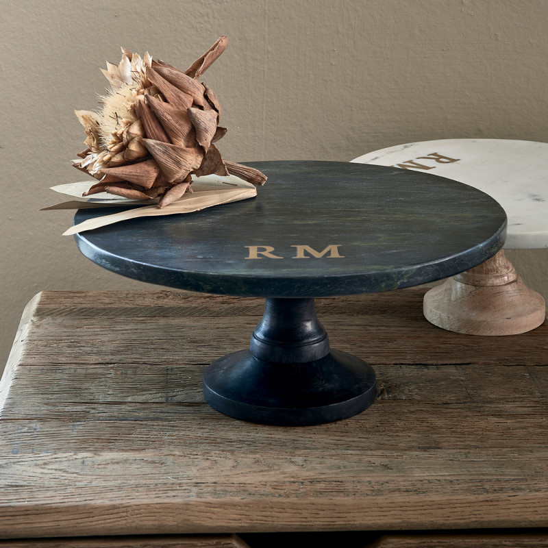 Magic marble cake stand black