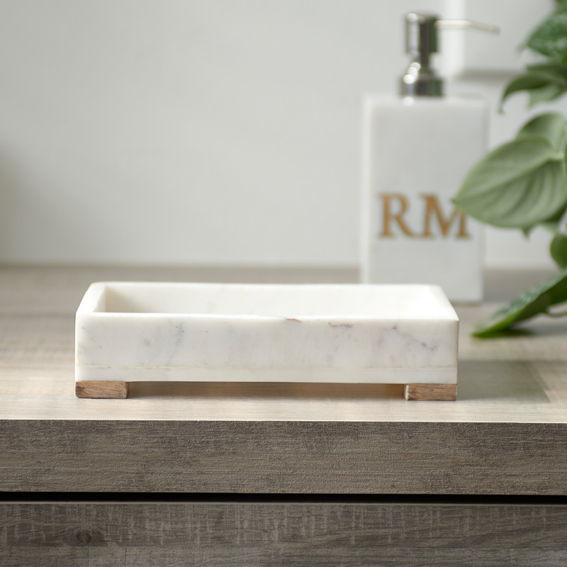 Magic marble soap dispenser tray