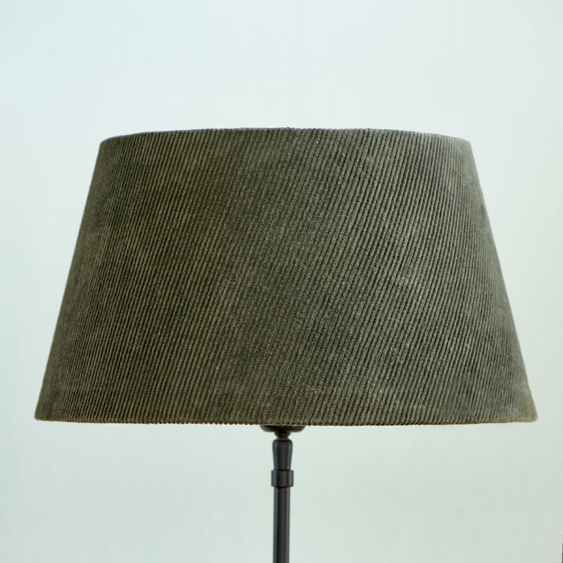 Lovely rib velvet lampsh grn 28x38