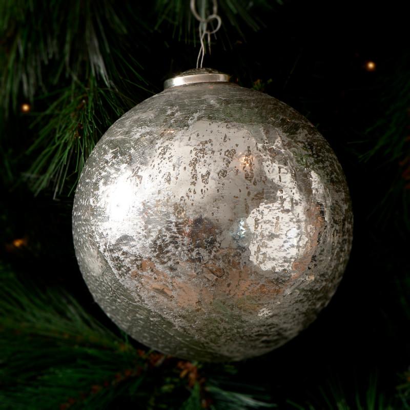 Antique christmas ornament slv d 15