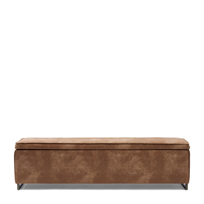 Club 48 bench with lid pell camel