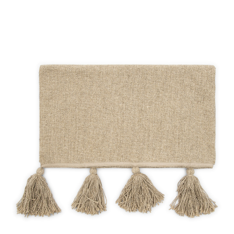Tassle treasure throw flax 170x130