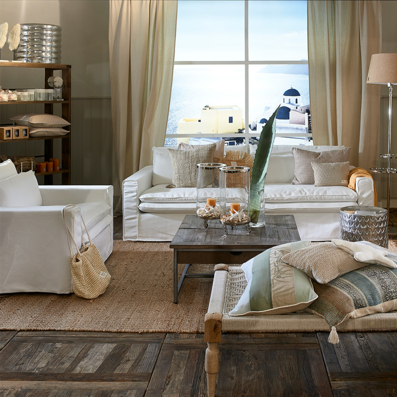 Continental loveseat cotton iceblue