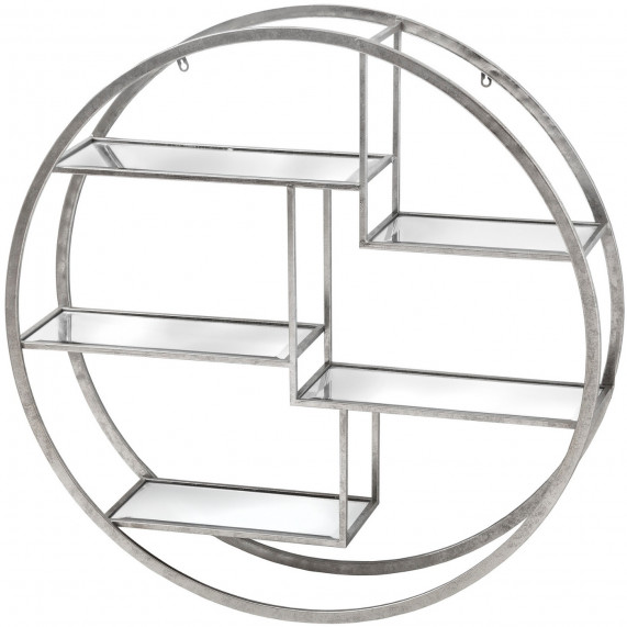 Urban circular silver wall multi shelf