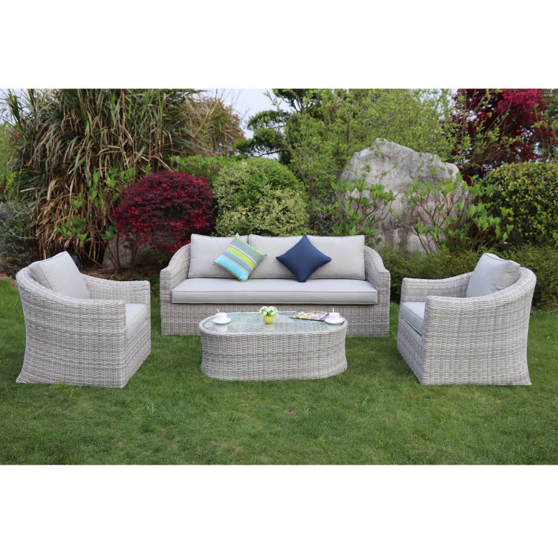 Sepino 3 seat sofa set grey