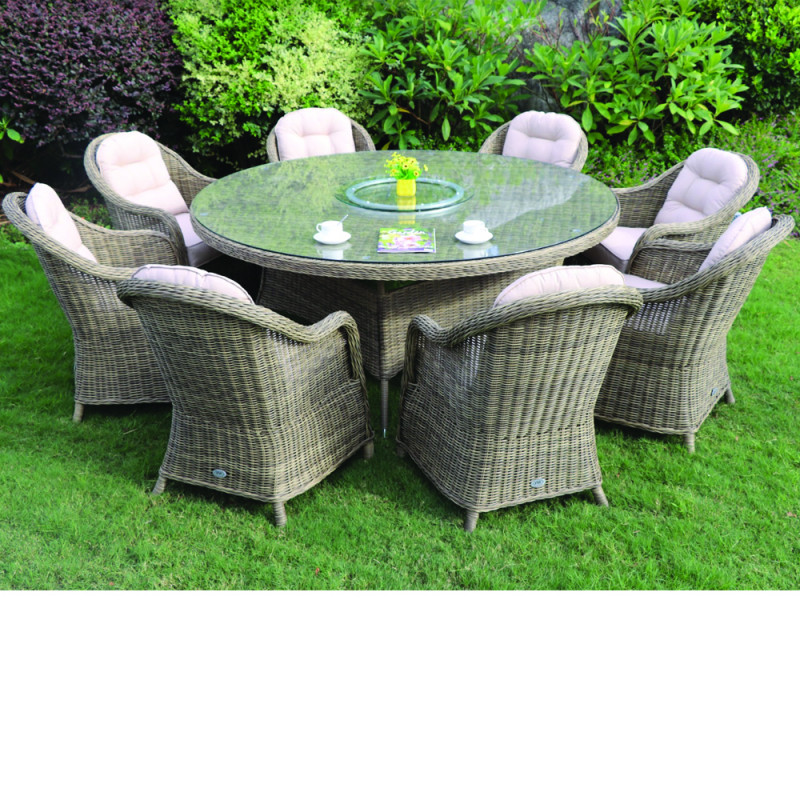 Sepino 8 seater round set natural