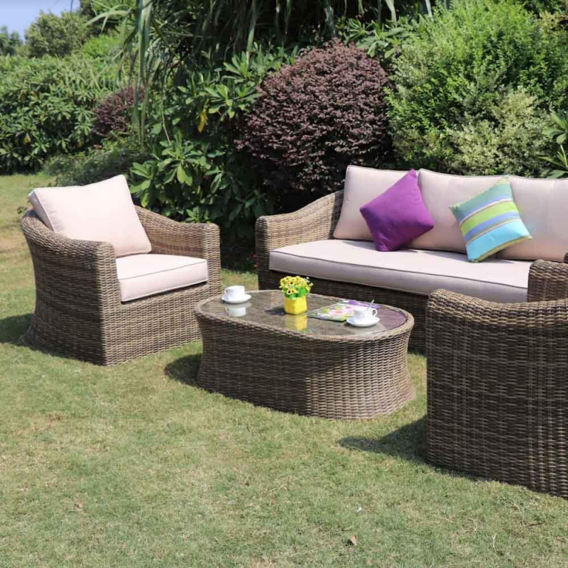 Sepino 3 seat sofa set natural