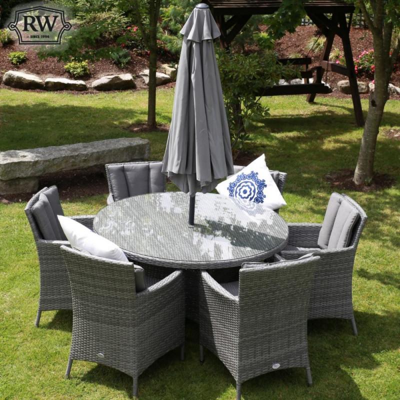 Perillo 3m parasol grey