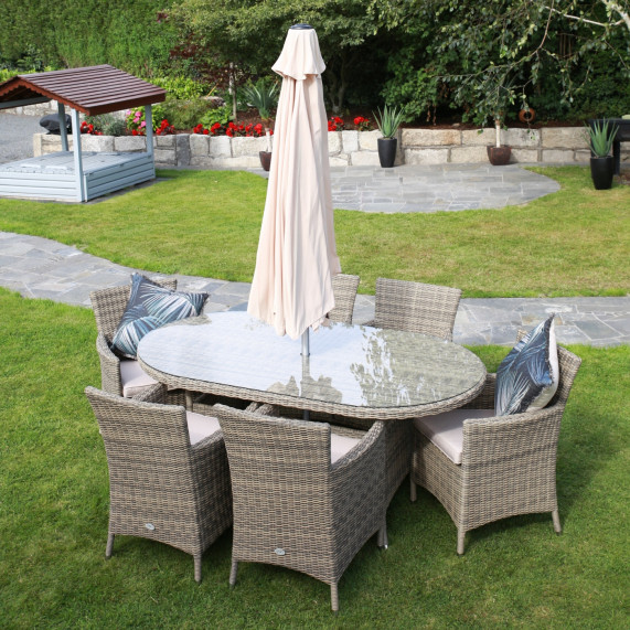 Dumont 6 seater oval set