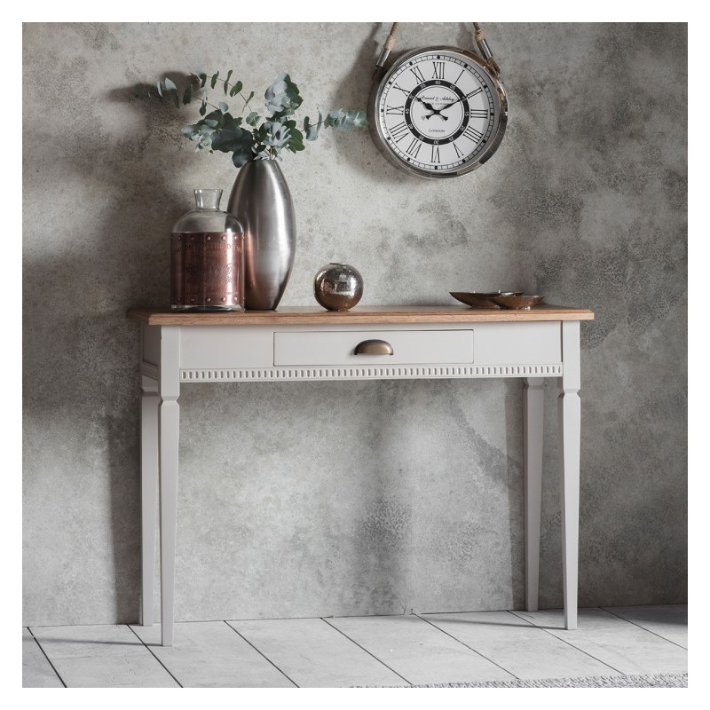 Bronte taupe console table