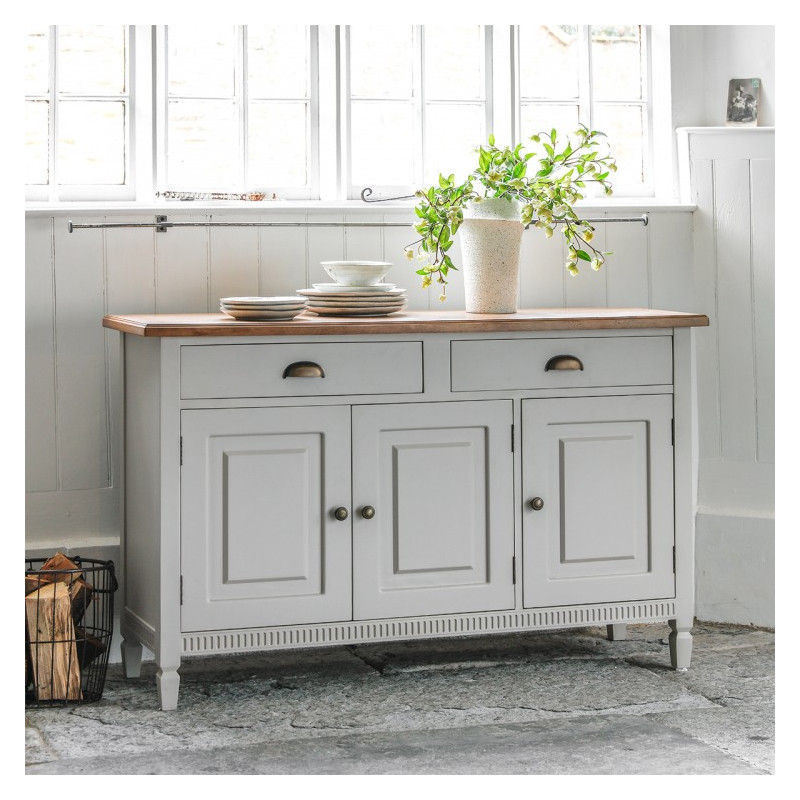 Bronte taupe sideboard 3 dr 2 dwr