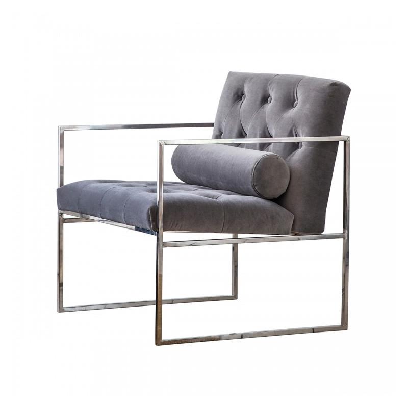 Modern armchair mirage velvet