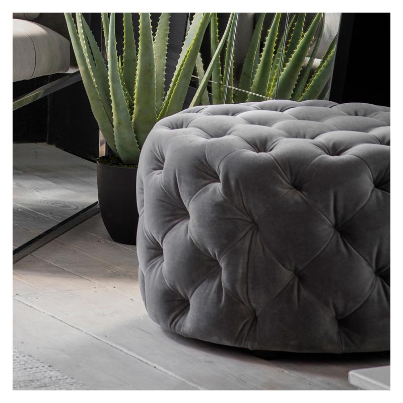 Modern footstool mirage velvet