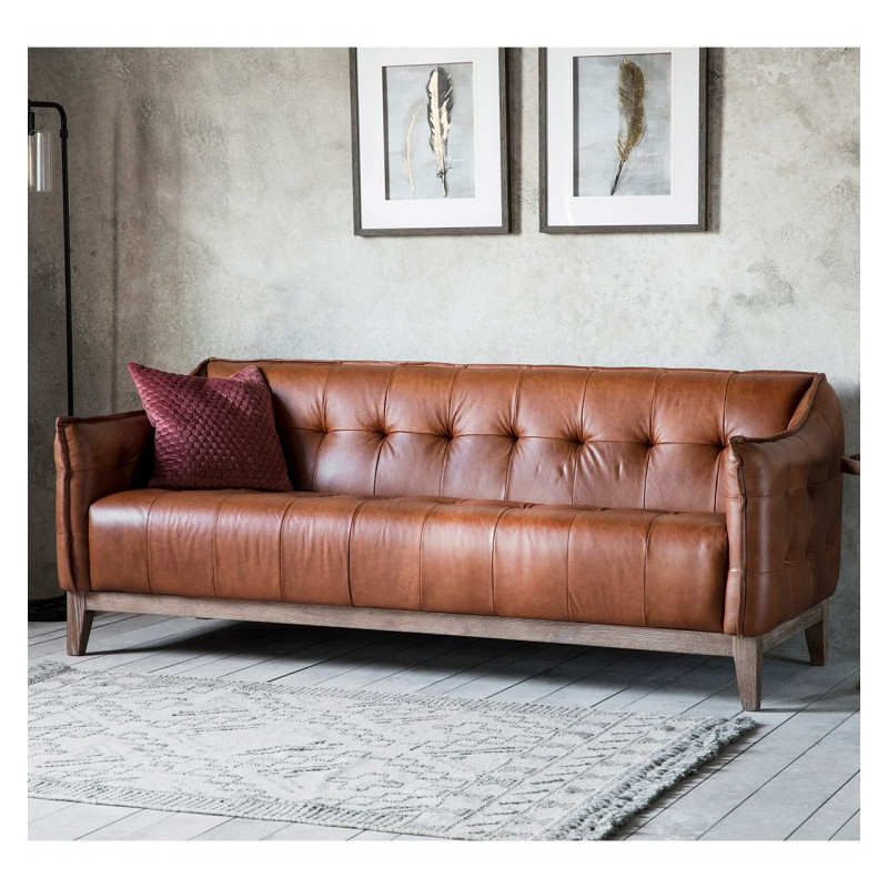 Vintage sofa brown leather