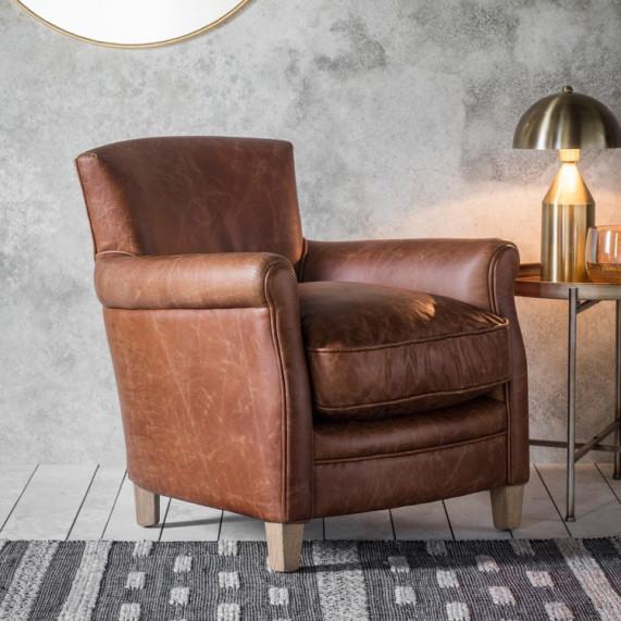 Vintage armchair brown leather