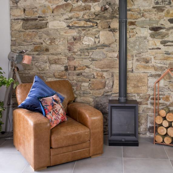 Hudson armchair brown leather