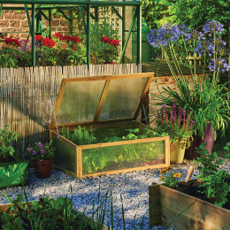Gi wooden cold frame natural