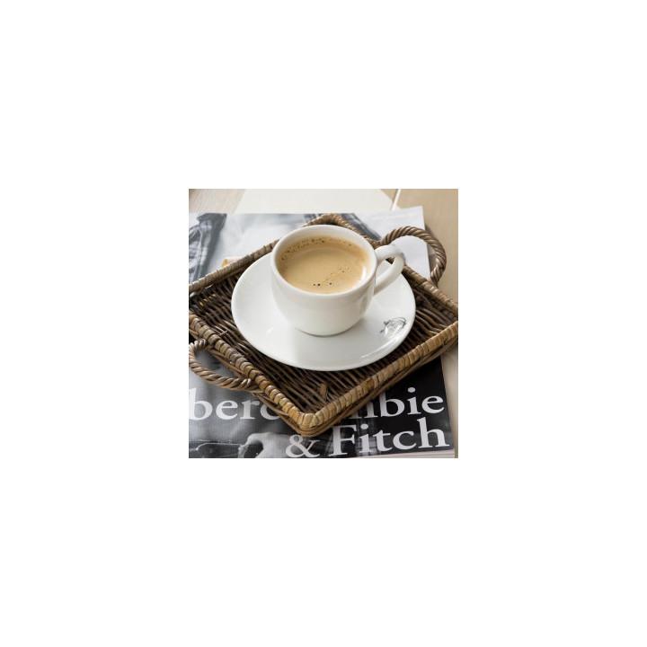 Rustic rattan mini tray square