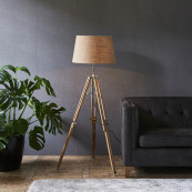 Classic tripod lamp teak l