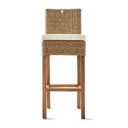 Rustic rattan bar stool