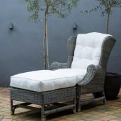 Outdoor rustic r nicolas footstool