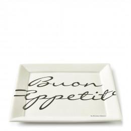 Buon appetito square plate 26x26