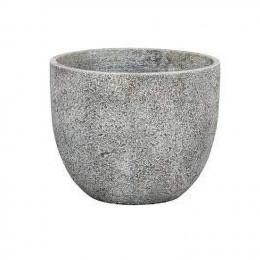 Beaumont 04e round planter light grey 30cm dia