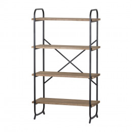 Industrial 4 tier display shelf unit