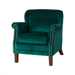 Peacock emerald armchair