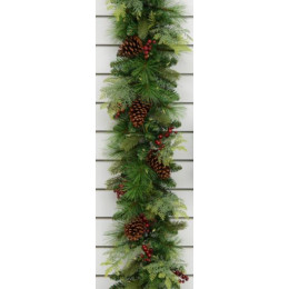 6ft pl berry cone garland