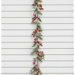 6ft mixed berry pine garland