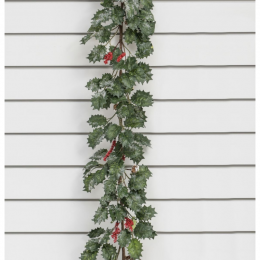 6ft holly berry cone garland
