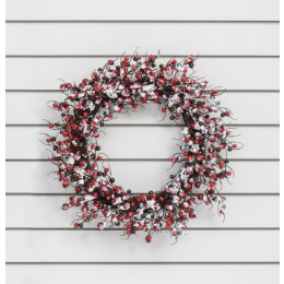 24 frosted red berry wreath