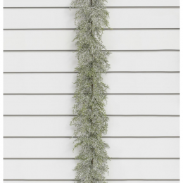 6ft frosted cedar garland